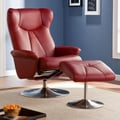 Wildon Home   Barrington Recliner and Ottoman; Brick Red