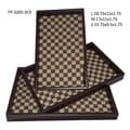 Cheungs 3 Piece Checker Rectangular Serving Tray Set