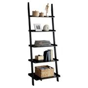 Hokku Designs Quint 74.75'' Ladder Bookcase; Black