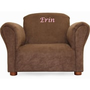 Fantasy Furniture Little-Furniture Personalized Kid's Microsuede Mini Chair; Brown