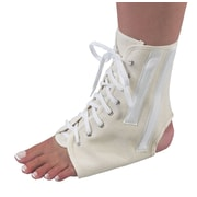 Bilt-Rite Mutual, Canvas Ankle Brace with Laces, White, Unisex, 2 pack (10-26000-LG-2)