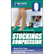 Bilt-Rite Mutual, Women's Knee High Stockings, 15 - 20 mmHg Sand, 2 pack (10-70100-SM-2)
