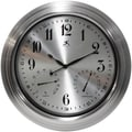 Infinity Instruments Camelot Wall clock with Thermometer & Hygrometer