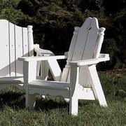 Uwharrie Nantucket Kid's Adirondack Chair; Twilight Blue(Distressed)