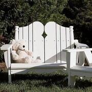 Uwharrie Nantucket Kid's 2 Seater Adirondack Chair; Twilight Blue(Distressed)
