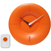 Infinity Instruments 10'' Doorbell Wall Clock; Orange