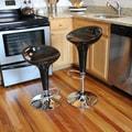 Buffalo Tools AmeriHome Modern Adjustable Height Swivel Bar Stool (Set of 2); Black