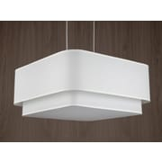 Lights Up! Blip 4 Light Pendant; Natural Linen