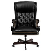 Flash Furniture High-Back Leather Executive Office Chair; Black