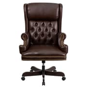 Flash Furniture High-Back Leather Executive Office Chair; Brown