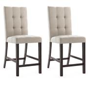 CorLiving Bistro Parsons Chair (Set of 2); Platinum Sage