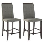 CorLiving Bistro Parsons Chair (Set of 2); Pewter Grey Sand