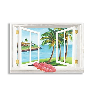 Stupell Industries Beach Faux Window Scene Wall Plaque