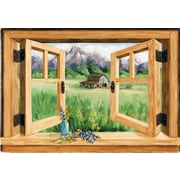 Stupell Industries Willis Mounting Faux Window Scene Wall Plaque