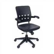 Virco Ph.D. Mid-Back Plastic Executive Chair; Black