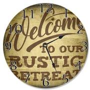 Stupell Industries 12'' Rustic Retreat Vanity Clock