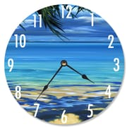 Stupell Industries 12'' Palm Tree Shadows Wall Clock