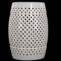 Urban Trends Ceramic Garden Stool White