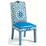 Loni M Designs Gabrielle Cotton Parson Chair; Blue Blue