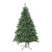 Jeco Inc. Pre-Lit 7' Green Berrywood Pine Artificial Christmas Tree w/ 400 Pre-Lit Lights w/ Stand