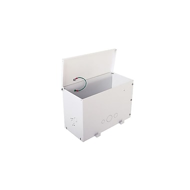 ChiefMD – Grand accessoire de rangement pour plénum à installer par-dessus le carrelage (MIL-CH-CMA471), 9,3x14x7,8 po, blanc