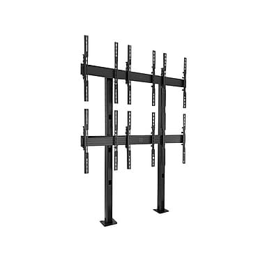 Chief® Fusion™ (MIL-CH-LBM3x2UP) Portrait Bolt-Down Freestanding Video Wall Cart, Large, Black