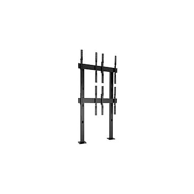 Chief® Fusion™ (MIL-CH-LBM2x2UP) Bolt-Down Freestanding Video Wall Cart, Large, Black