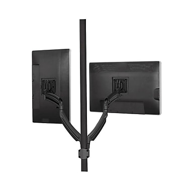 Chief® (MIL-CH-K1P220B) Dynamic Dual Monitors Pole Mount, Black