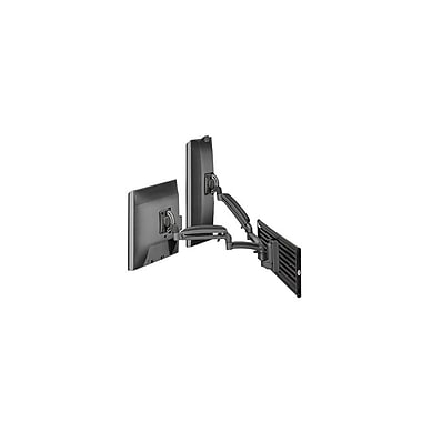 Chief® (MIL-CH-K1S220B) Dynamic Dual Monitor Slat wall Mount, Black
