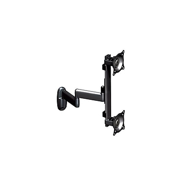Chief® (MIL-CH-KWD230B) Dual Monitor Vertical Swing Arm Wall Mount, 19