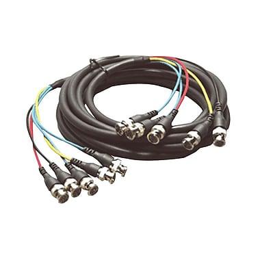 Kramer – Câble à connecteur mâle de 5 BNC vers connecteur mâle de 5 BNC (KC-C-GM/5BM-25), 25 pi