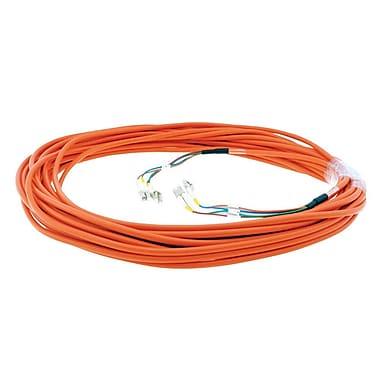 Kramer – Câble de réseau en fibre optique 4 Lc (M) à 4 Lc (M) (C-4LC/4LC-164), 164 pi, orange