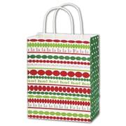 """Bags & Bows® Shoppers Bag, 10 1/2"""" x 8 1/4"""" x 4 3/4"""", Fa La La"""