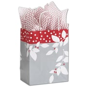 "Bags & Bows® Shoppers Bag, 10 1/2"" x 8 1/4"" x 4 3/4"", Silver Serenade"