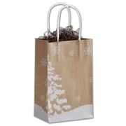 "Bags & Bows® Mini Pack Shoppers Bag, 8 1/4"" x 5 1/4"" x 3 1/2"", Nature's Wonder"
