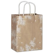 "Bags & Bows® Mini Pack Shoppers Bag, 10 1/2"" x 8 1/4"" x 4 3/4"", Nature's Wonder"