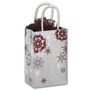 "Bags & Bows® Mini Pack Shoppers Bag, 8 1/4"" x 5 1/4"" x 3 1/2"", Burgundy Bliss"