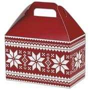 Bags & Bows® Gable Box, 5 1/2 x 8 1/2 x 5, Nordic Snowflake
