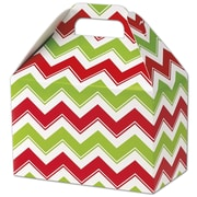 Bags & Bows® Gable Box, 5 1/2 x 8 1/2 x 5, Holiday Chevron