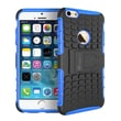 "GearIT Apple iPhone 6 4.7"" Heavy Duty Armor Hybrid Rugged Stand Case, Blue"