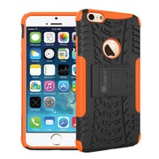 "GearIT Heavy Duty Armor Hybrid Rugged Stand Case for Apple iPhone 6 4.7"", Orange"