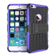 "GearIT Apple iPhone 6 4.7"" Heavy Duty Armor Hybrid Rugged Stand Case, Purple"