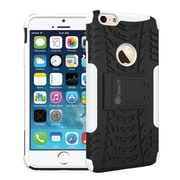 GearIT iPhone 6 Hybrid Rugged Stand Case, White