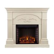 SEI Sicilian Harvest Wood/Veneer Electric Floor Standing Fireplace, Ivory