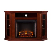 SEI Claremont Wood/Veneer Electric Floor Standing Fireplace, Cherry