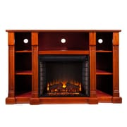 SEI Kendall Wood/Veneer Electric Floor Standing Fireplace, Mahogany