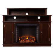 SEI Lynden Wood/Veneer Electric Floor Standing Fireplace, Espresso