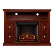 SEI Creston Wood/Veneer Electric Floor Standing Fireplace, Cherry