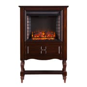 SEI Providence Wood/Veneer Electric Floor Standing Fireplace, Mahogany