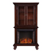 SEI Townsend Wood/Veneer Electric Floor Standing Fireplace, Espresso